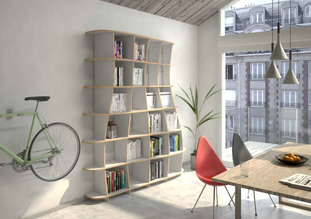 Freeda M-bookcases, bookshelves, dining room furniture, furniture, kitchen cupboards, kitchen units, living room, modern kitchen design, shelves, wall shelves, wood-formbar.co.za