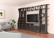 Load image into Gallery viewer, Giuseppa-living room, TV cabinet, TV stand, TV wall, wall shelves, wood-formbar.co.za