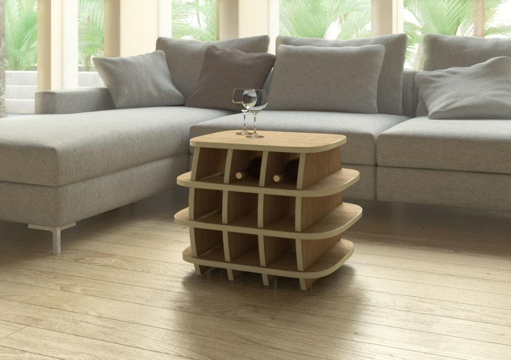 Habana-furniture, wine, wine rack, wood-formbar.co.za
