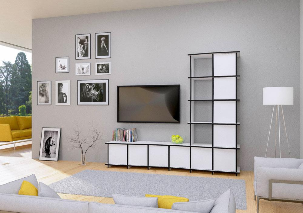 Juna-furniture, living room, TV cabinet, TV stand, TV wall, wall shelves, wood-formbar.co.za