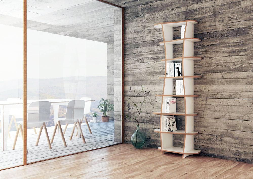 Milana-bookcases, bookshelves, CD, DVD, wall shelves, wood-formbar.co.za