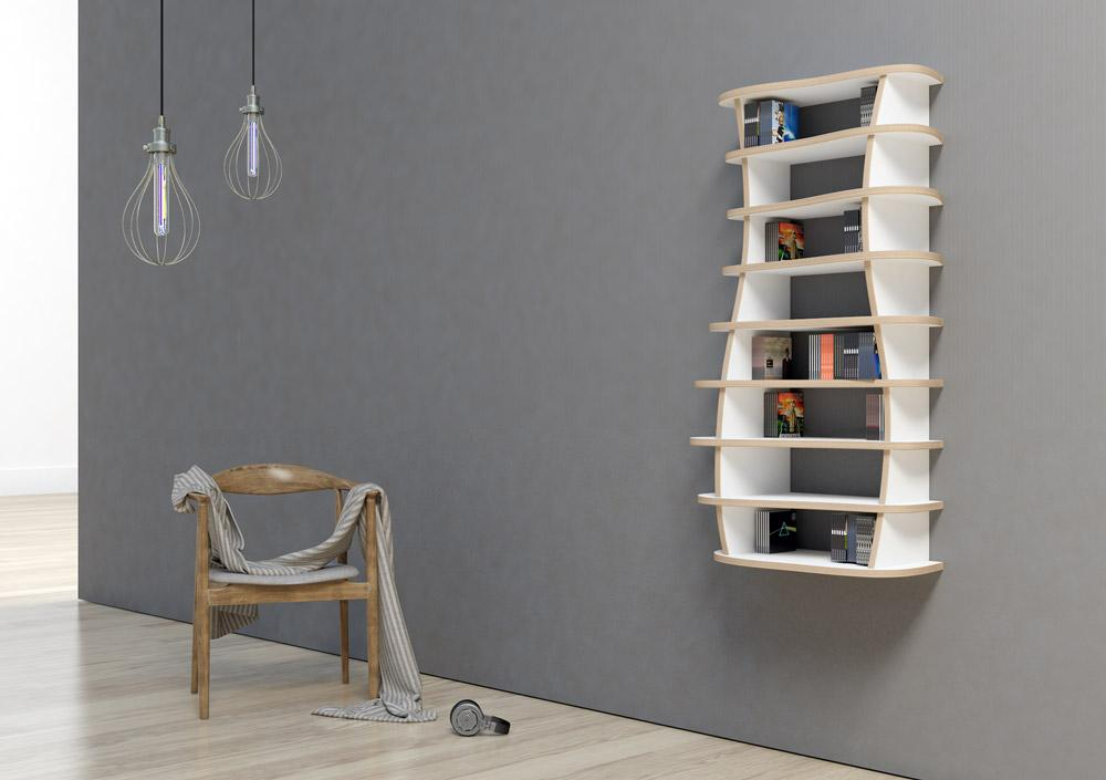 Mili-CD, DVD, floating shelves, wall shelves-formbar.co.za
