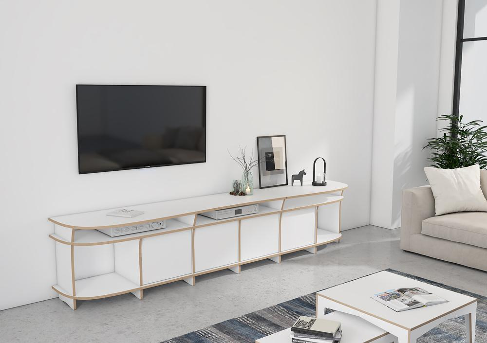 Nick-lowboard, TV cabinet, TV stand, TV wall, wood-formbar.co.za