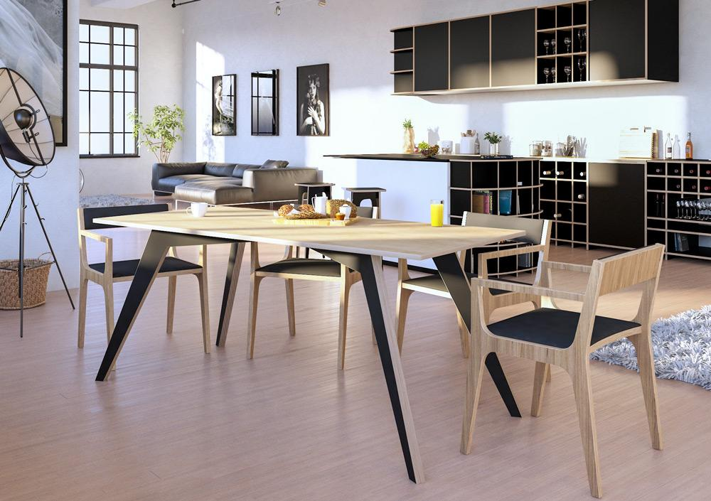 Queno-dining room furniture, dining table, table-formbar.co.za