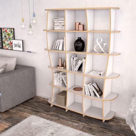 Vida-bookcases, bookshelves, living room, lounge-formbar.co.za