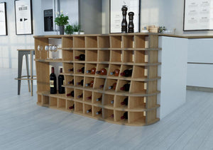 Vinod-kitchen cupboards, kitchen units, living room, modern kitchen design, wine, wine rack-formbar.co.za