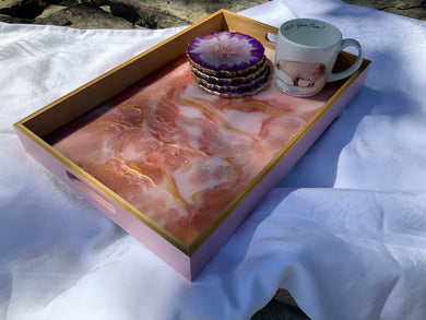 Large Resin Styled Serving Tray - made to order