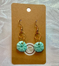 Load image into Gallery viewer, Delicate turquoise Sea Urchin Earrings - made to order