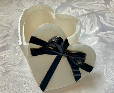 Pearlescent Trinket Dish With a Black Bow - made to order