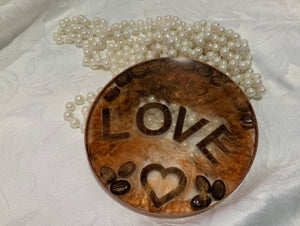 Anyone for Coffee? Resin Drinks Coaster with Cappuccino wax melts.