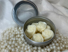 Load image into Gallery viewer, Cashmere Caramel Wax Melts Tin of Roses