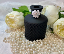 Load image into Gallery viewer, Matt Black Geo Diffuser Bottle. Luxury Premium Black Gloss Magnetic Gift/Keepsake Box
