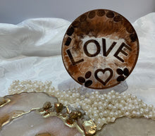 Load image into Gallery viewer, Anyone for Coffee? Resin Drinks Coaster with Cappuccino wax melts.