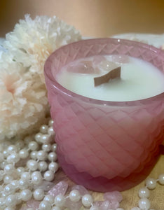 Rose Quartz Stones Royal Geo Candle Gift Boxed - Limited Edition