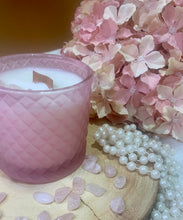 Load image into Gallery viewer, Rose Quartz Stones Royal Geo Candle Gift Boxed - Limited Edition