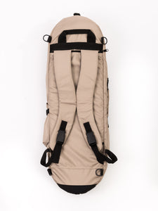 reppu skateboard bag beige