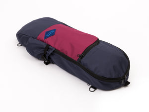 reppu skateboard bag navy bordo