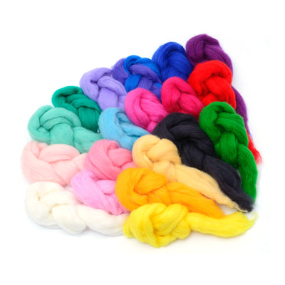 20 pieces of colorful spinning fiber wool