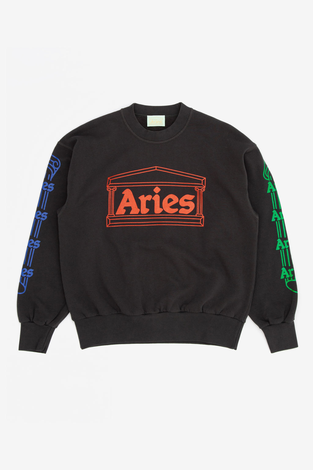 Aries Column Crew Neck Sweat Grey Multi