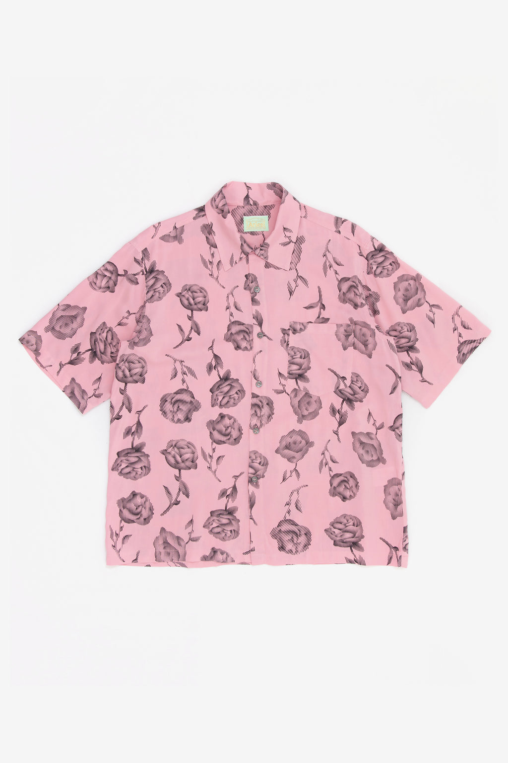 Aries Rose Hawaiian Shirt Pink