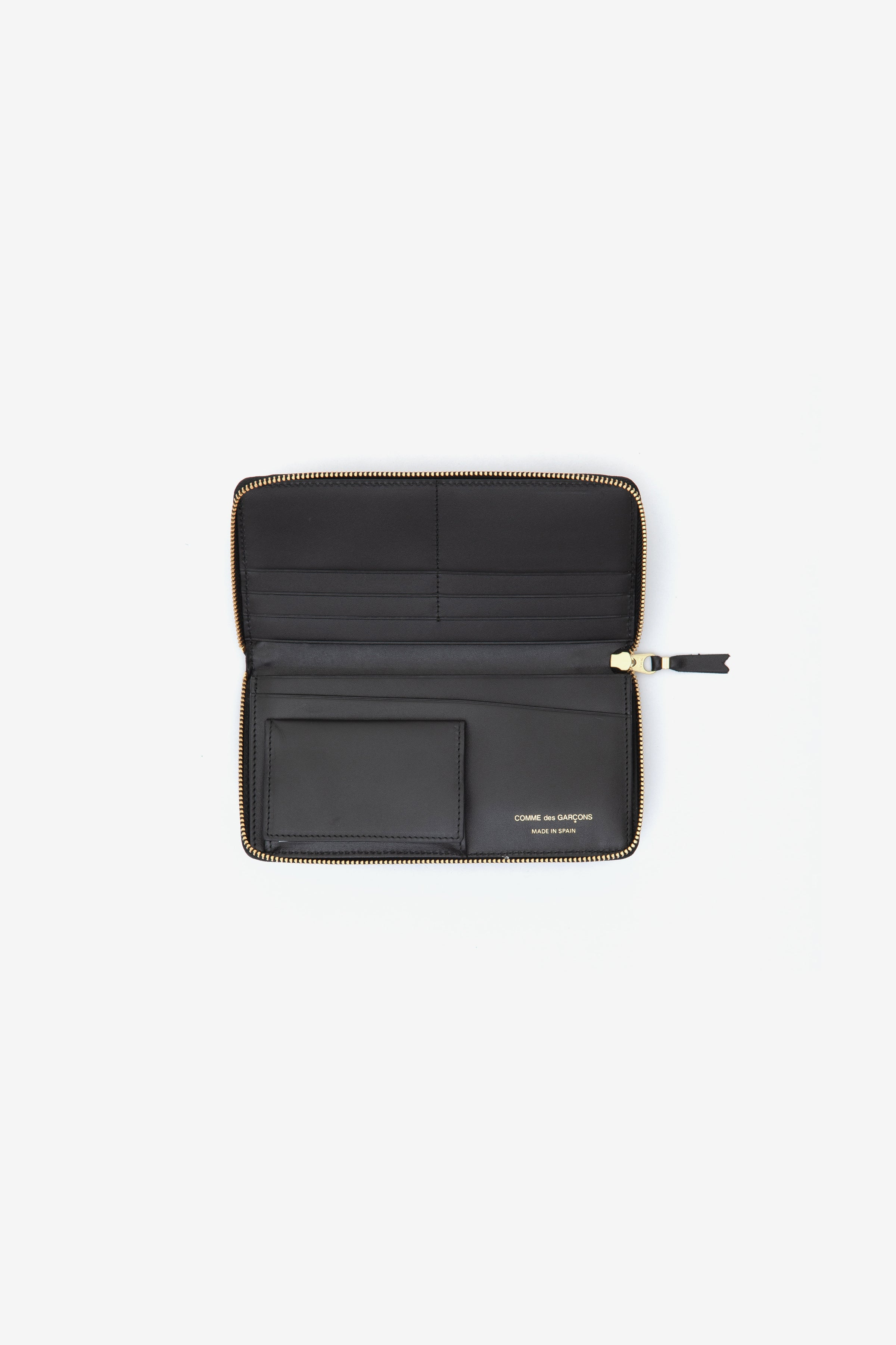 Comme Des Garcons Wallet Classic Black Leather 190mm x 120mm
