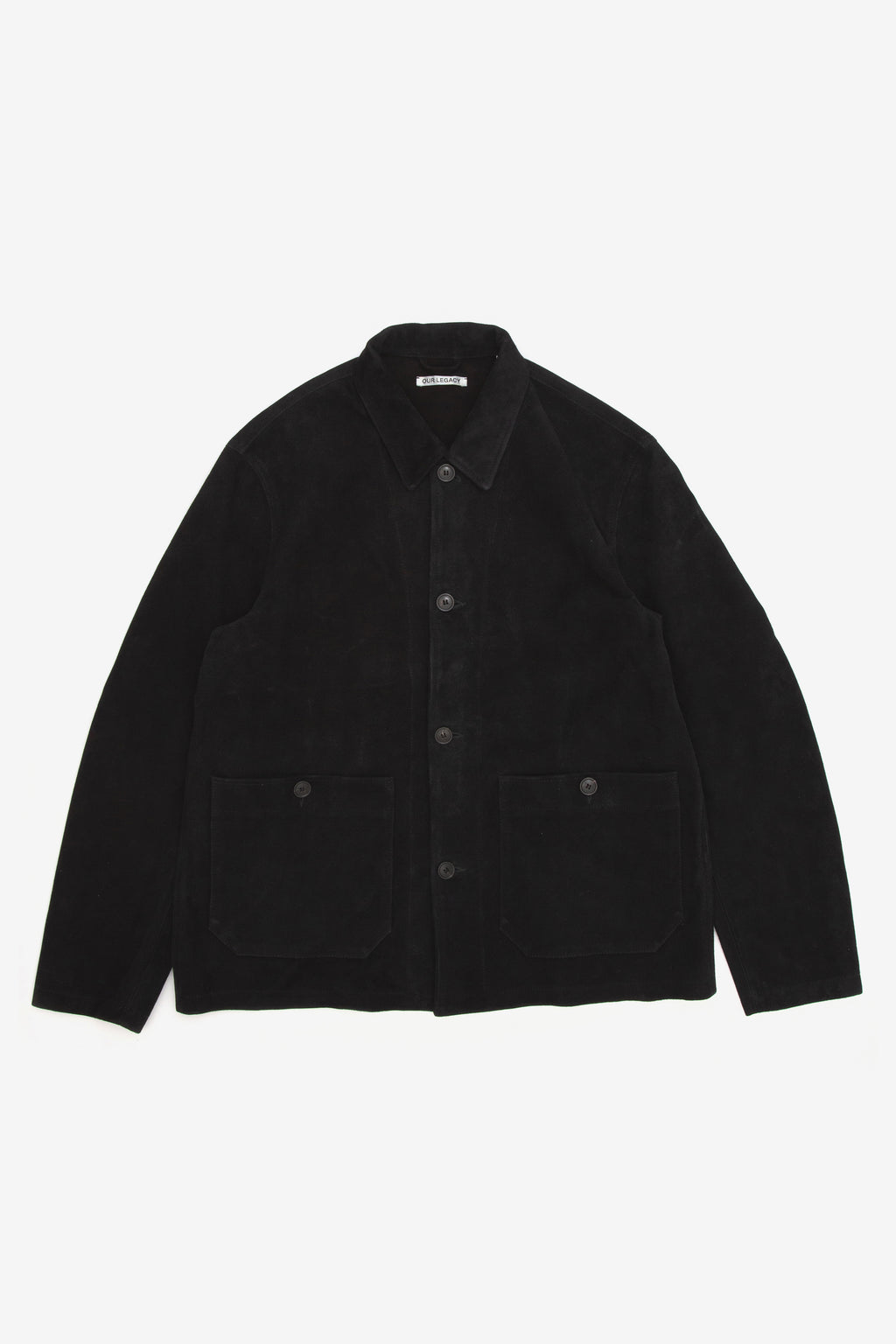 Our Legacy Archive Box Shirt Black Suede
