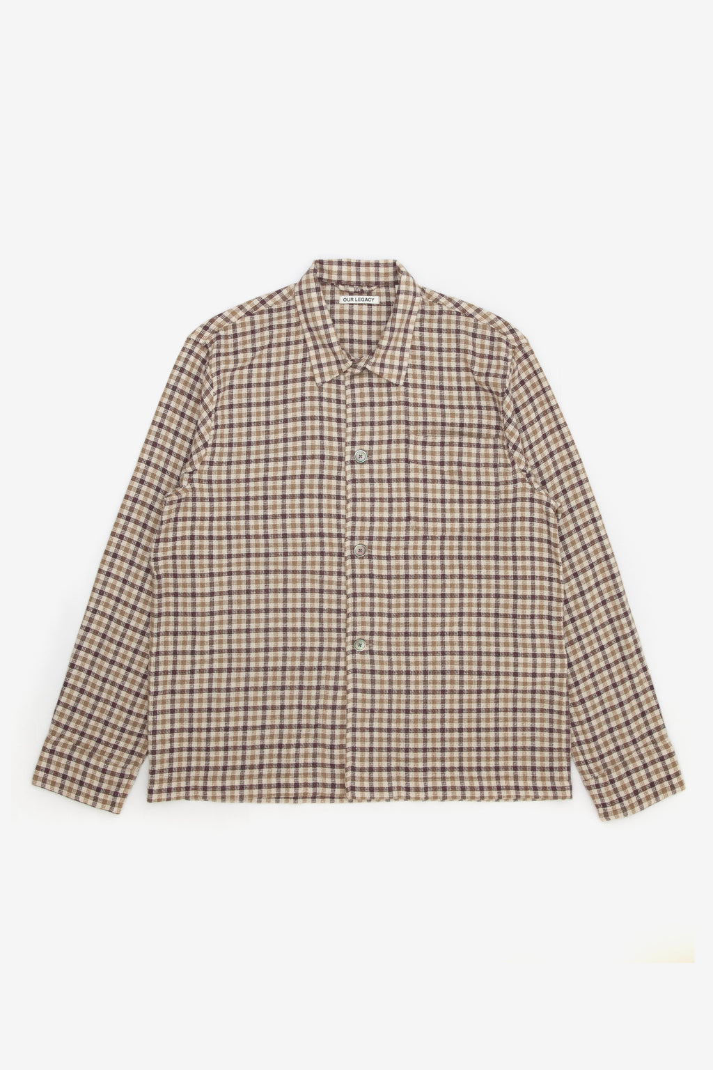 OUR LEGACY BOX SHIRT BROWN CHECK
