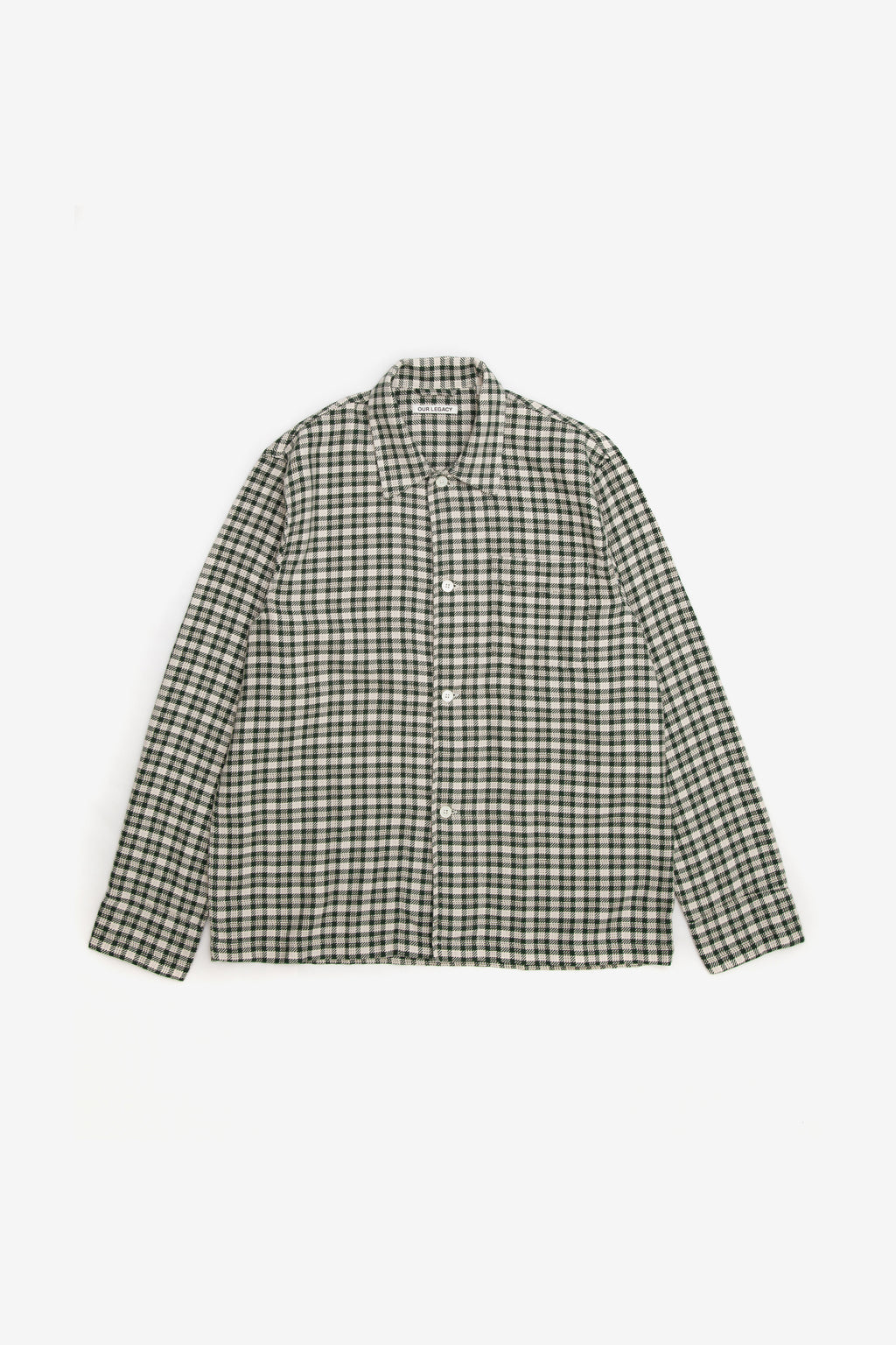 OUR LEGACY BOX SHIRT GREEN SHADOW CLOTH CHECK