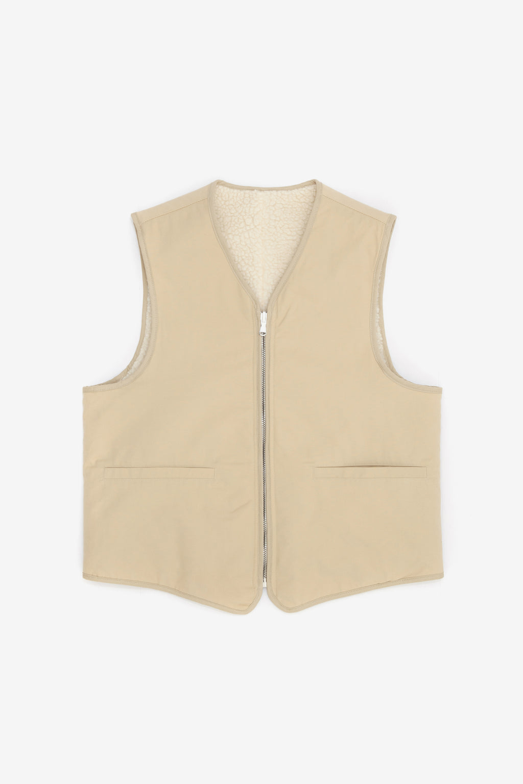 Our Legacy Zip Tail Vest Beige Cotton