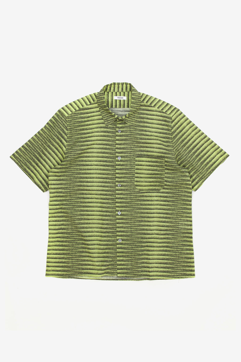 Tres Bien Tourist Shirt Agassi Green Stripe