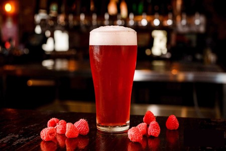 Raspberry Sour Ale Brewed with Amoretti Natural Flavor