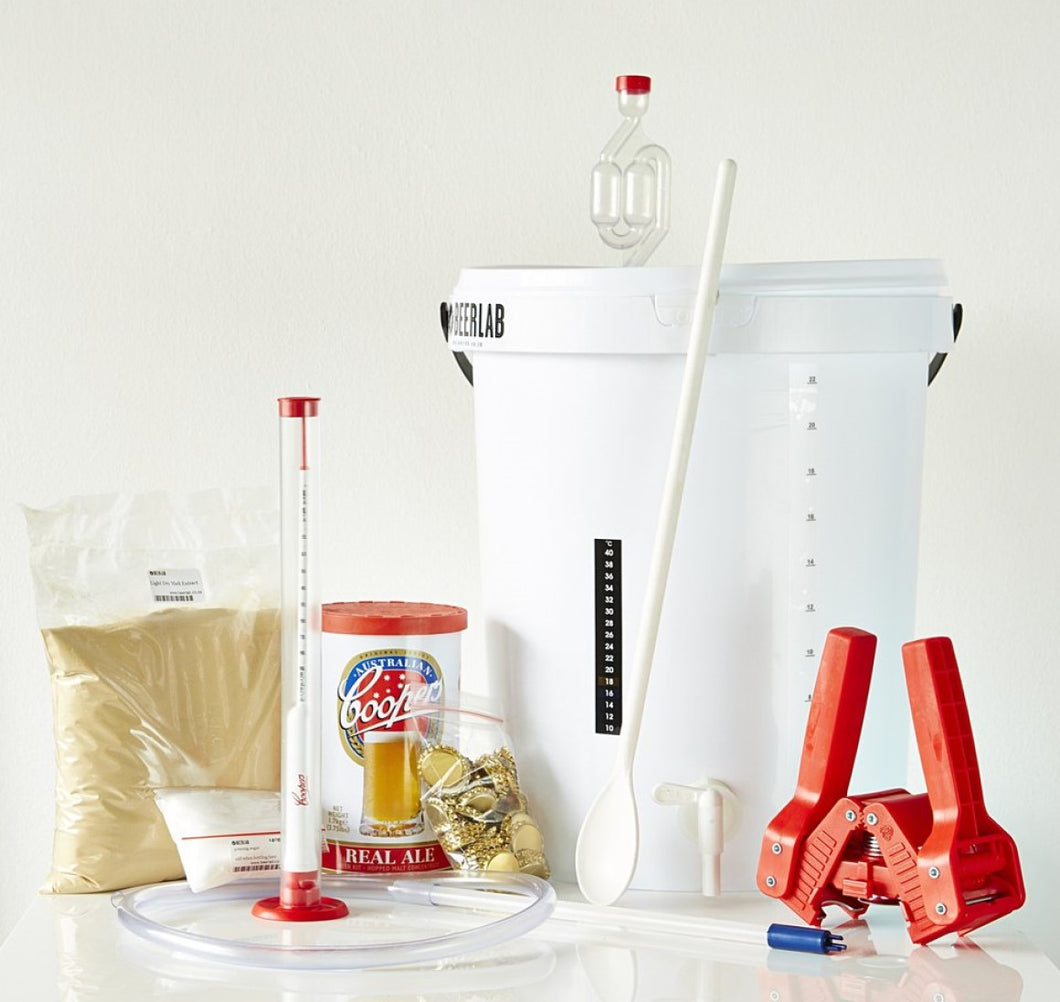 Complete Beer Kit: Ingredients & Equipments