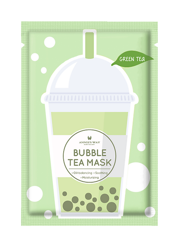 Green Tea Bubble Tea Mask