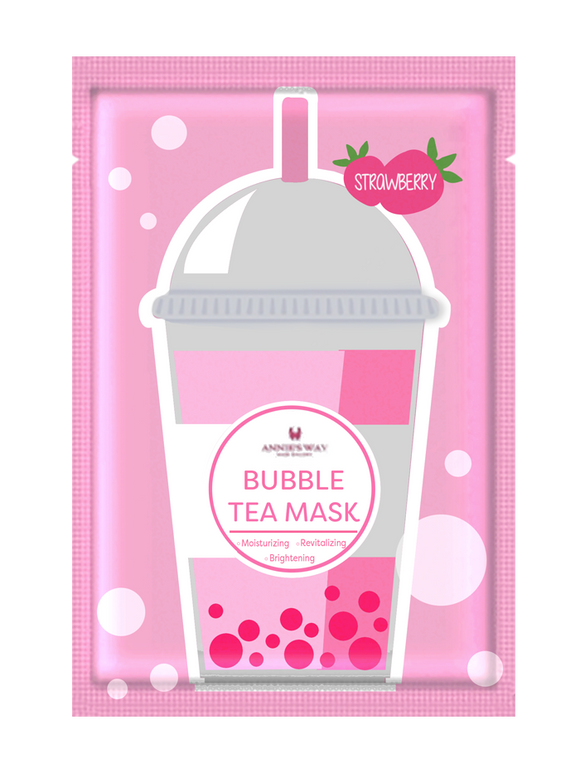 Strawberry Bubble Tea Mask