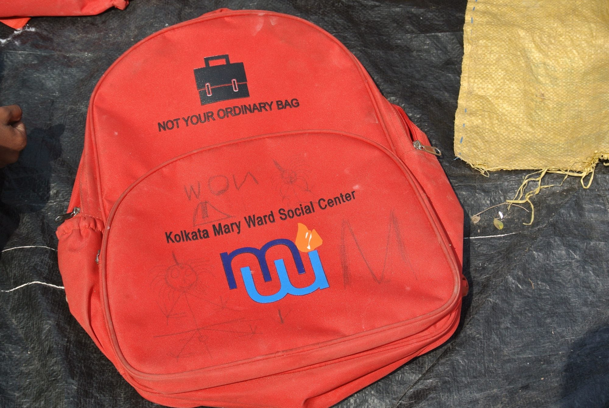 The O My Bag schoolbag with some personalization.