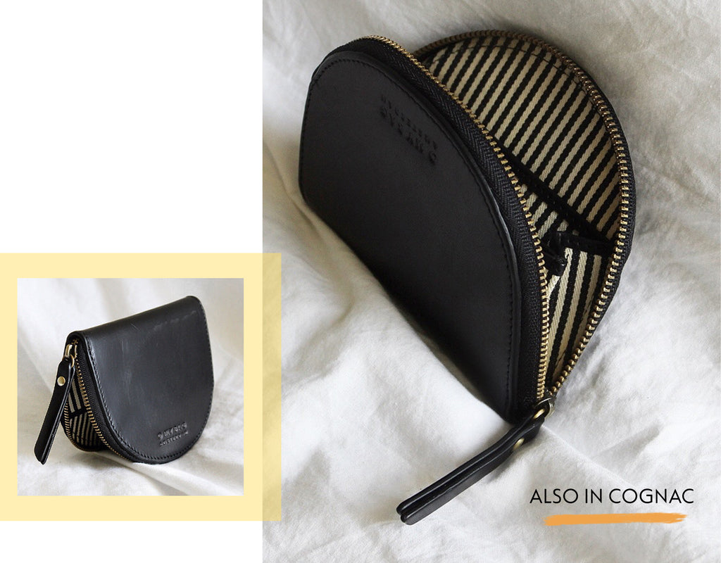 Laura Coin Purse Classic Black Leather SS21 Lookbook