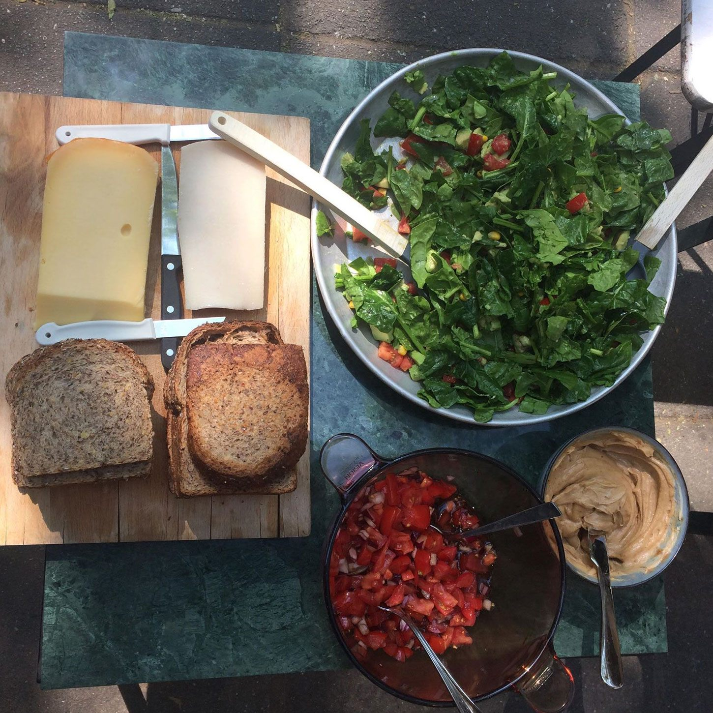 Our lunch spread on Friday, yum!