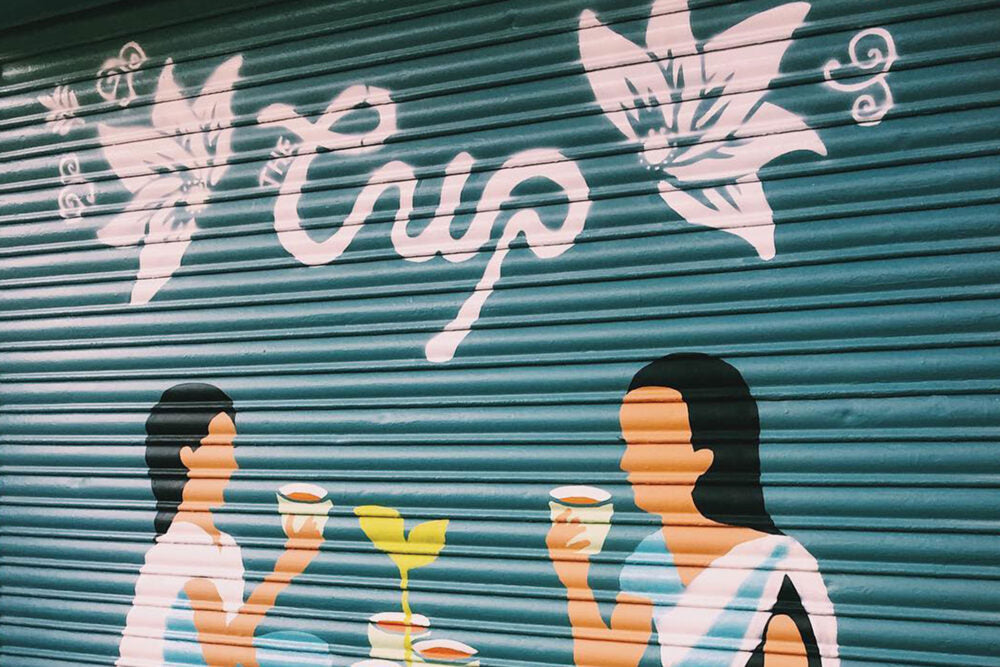 The Cup exterior mural