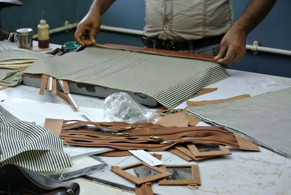 Wallets being hand-crafted at Springfield Factory