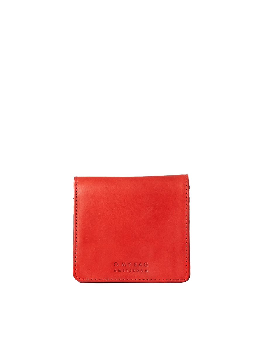 Recommended: The Alex Fold-Over Wallet - Red Classic Leather