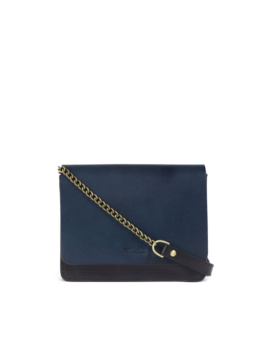 Recommended: Audrey Mini - Black & Navy Classic Leather