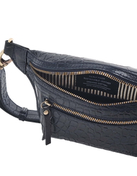 Becks Bum Bag in Navy Croco inside product image