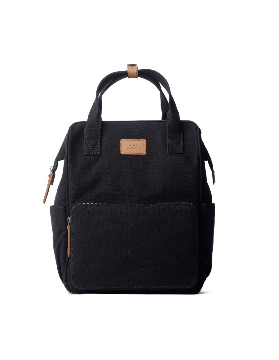 Recommended: Billie's Backpack - Black & Camel Canvas