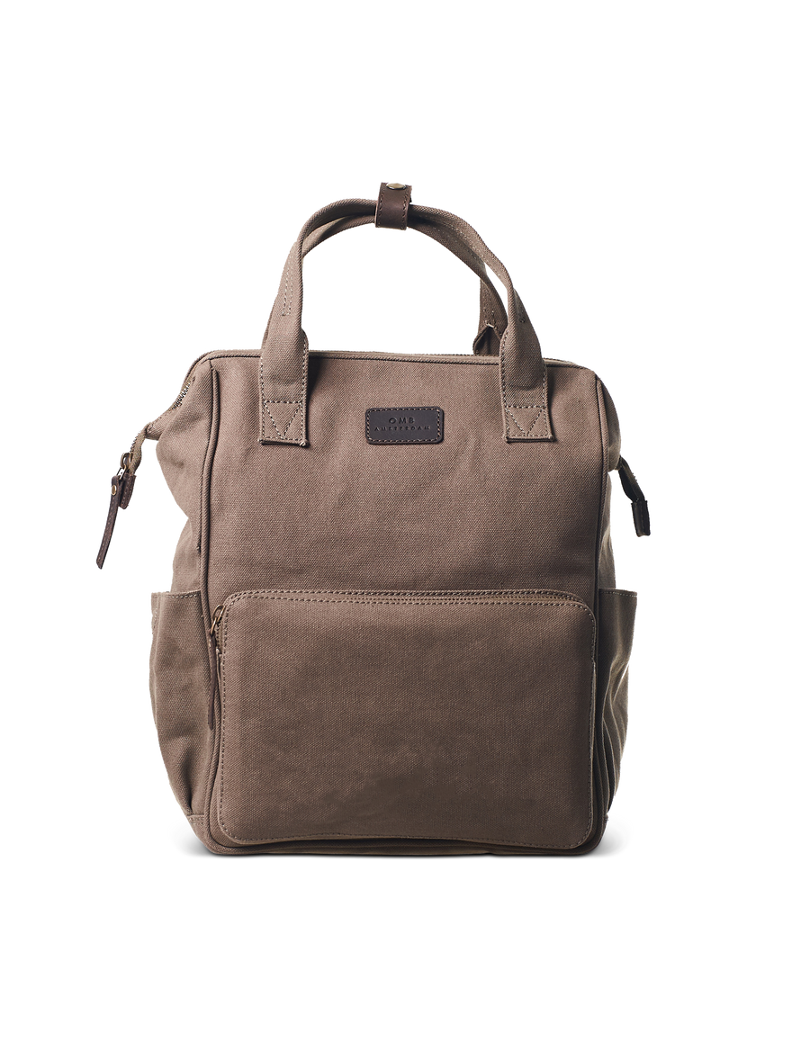 Recommended: Billie's Backpack - Olive & Dark Brown Canvas