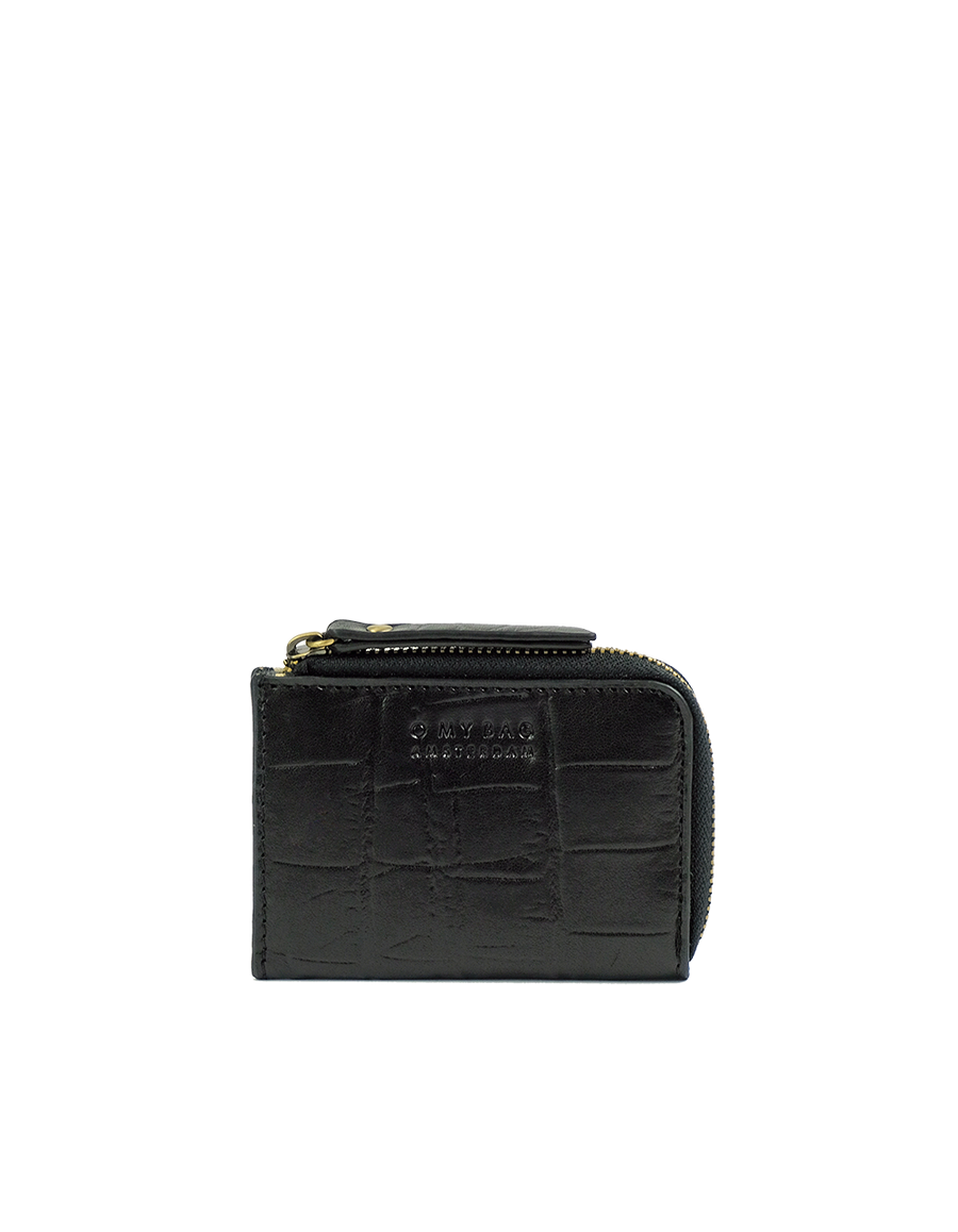 Recommended: Coco Coin Purse - Black Classic Croco Leather