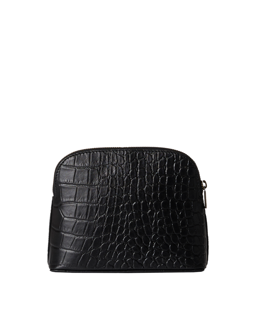 Recommended: Cosmetic Bag - Black Classic Croco Leather