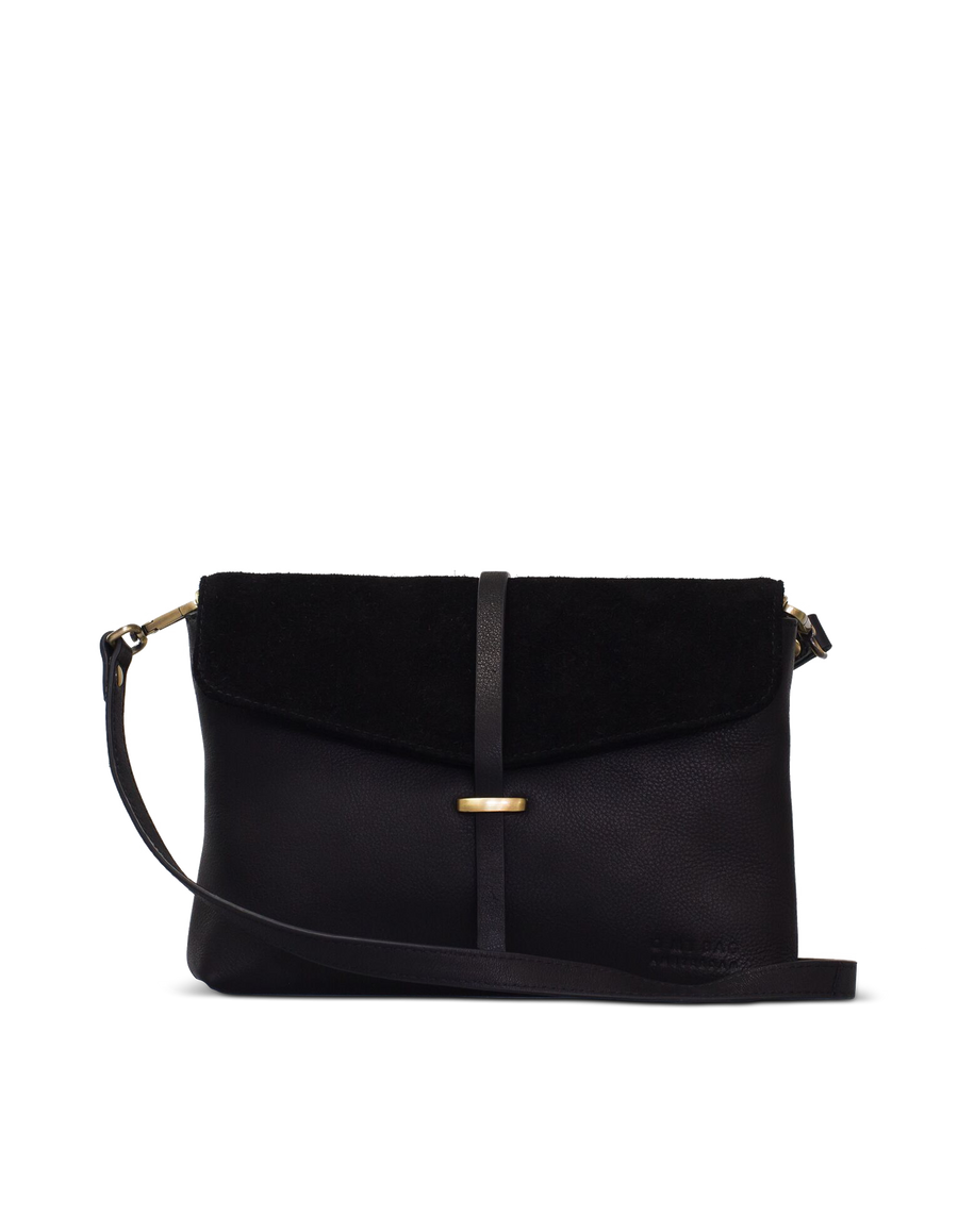 Recommended: Ella Midi - Black Soft Grain & Suède Leather