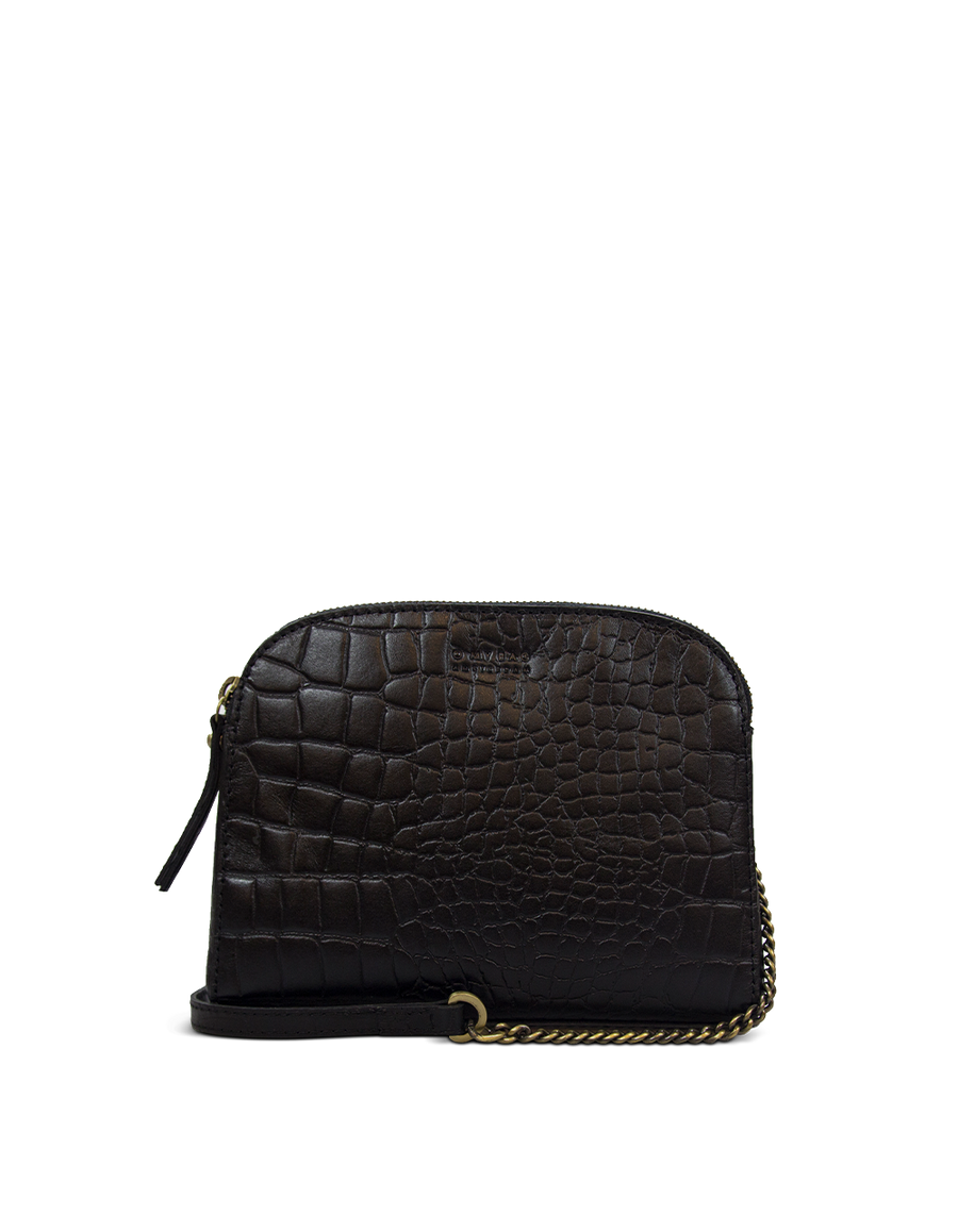 Recommended: Emily - Black Classic Croco Leather