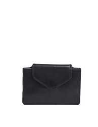 Harmonica Wallet Small Black Classic Leather by O My Bag. Square shape. Front product image