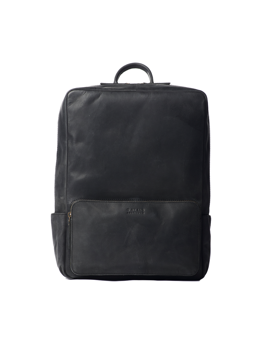 Recommended: John Backpack Maxi - Black Hunter Leather